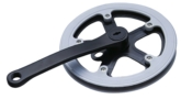 Single steel chainring with cotterless