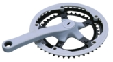 Dual steel chainring