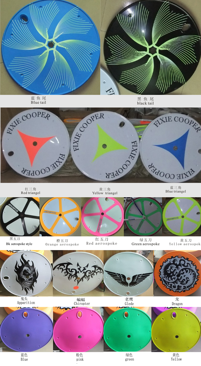 fixed gear bicycle wheel cover